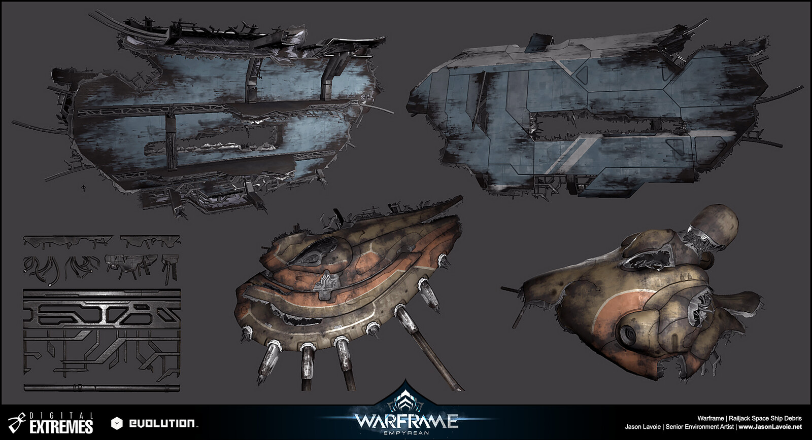 Ship Debris used in our Railjack Space maps