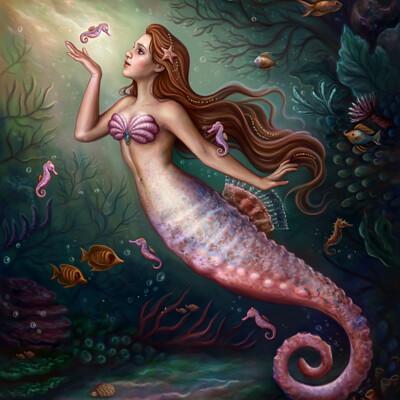 Dimitris karakousis seahorse mermaid