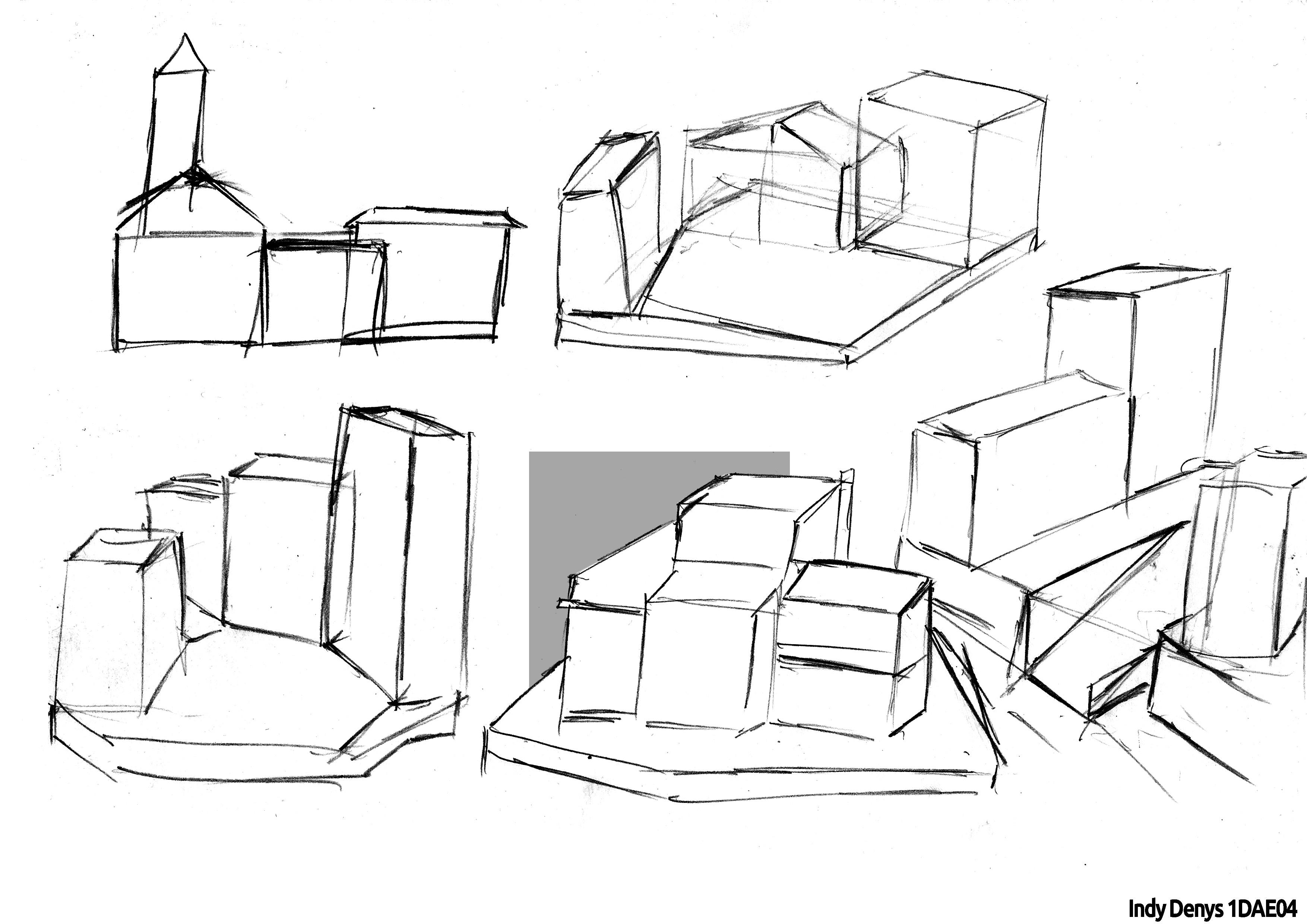 Silhoutte study - layout