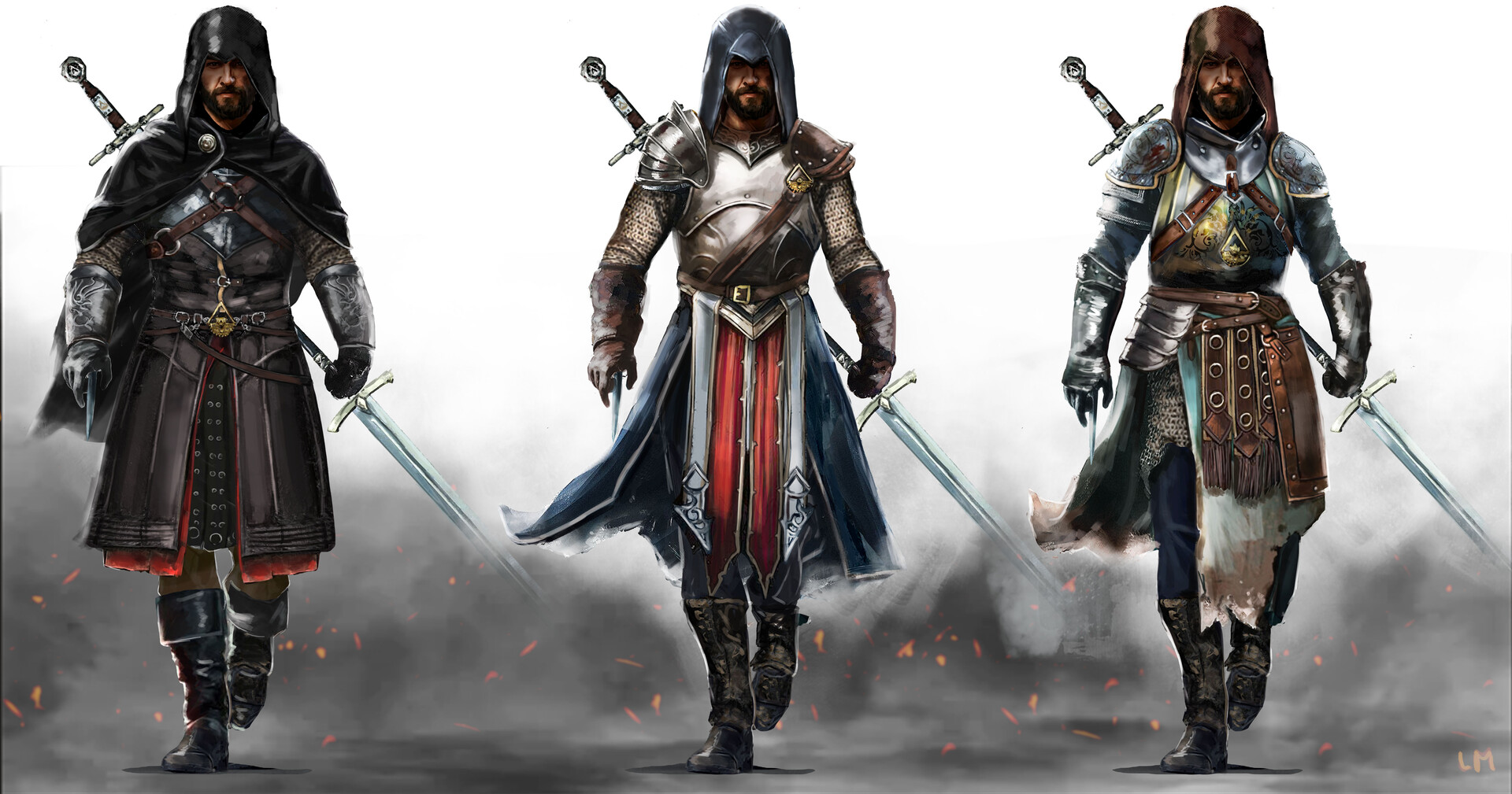 Artstation Medieval Knight Concept Assassin S Creed Fan Art