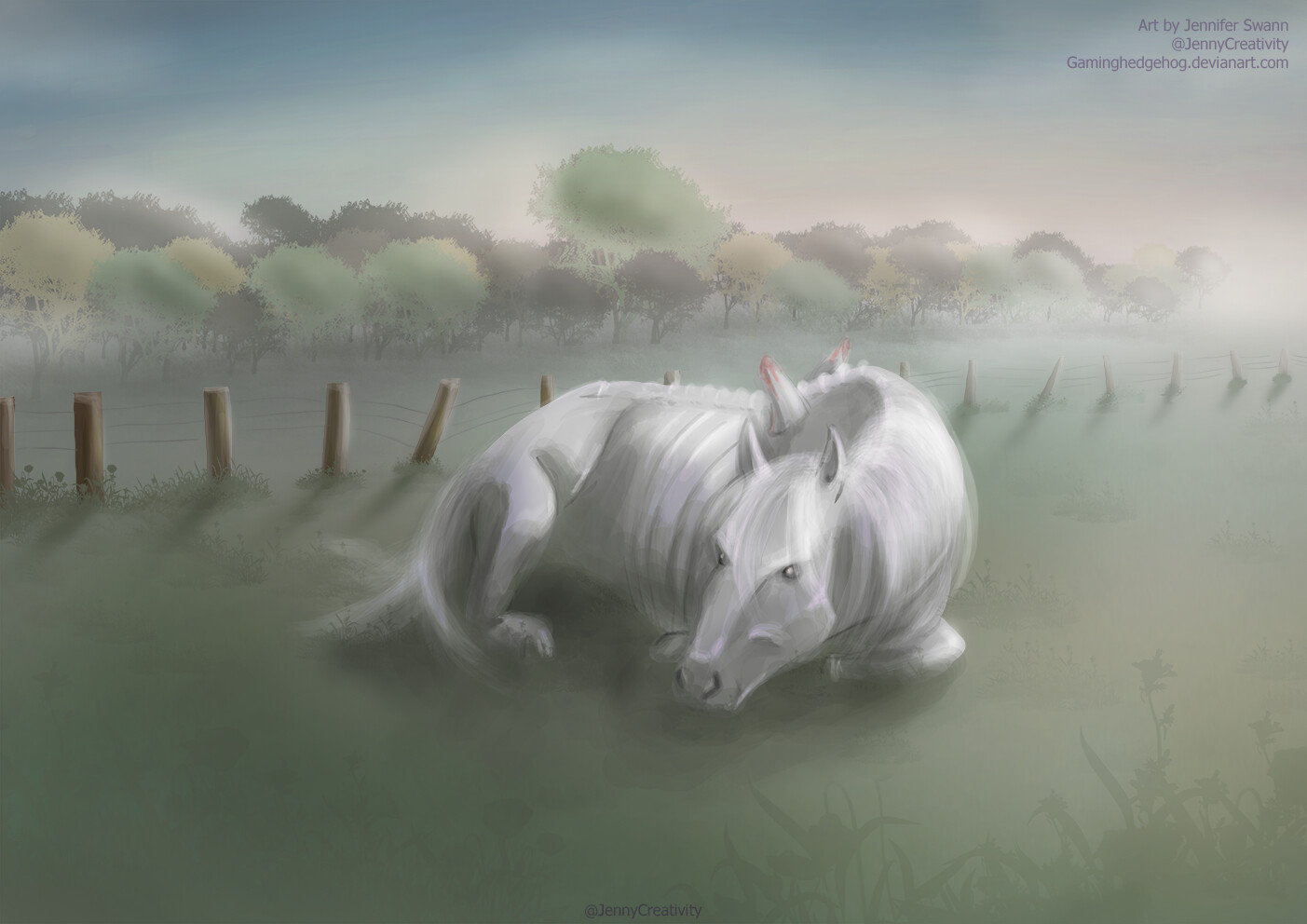 Jennifer Swann Scp Art Scp 042 A Formerly Winged Horse