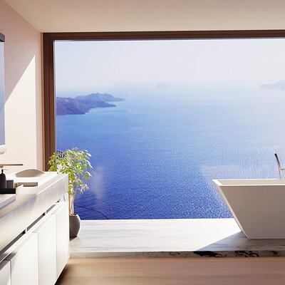 George mavroeidis santorini bathroom2