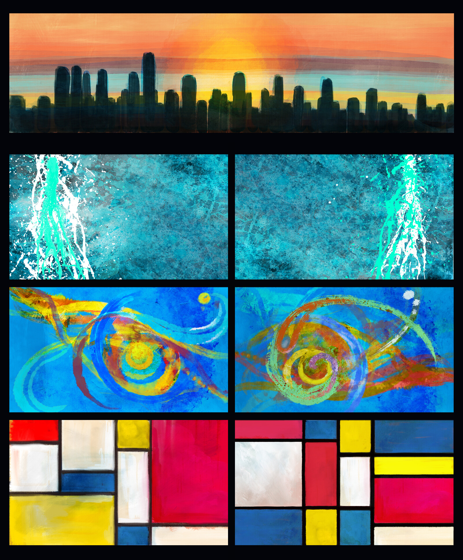 Some of the rest of the abstract paintings from the movie.