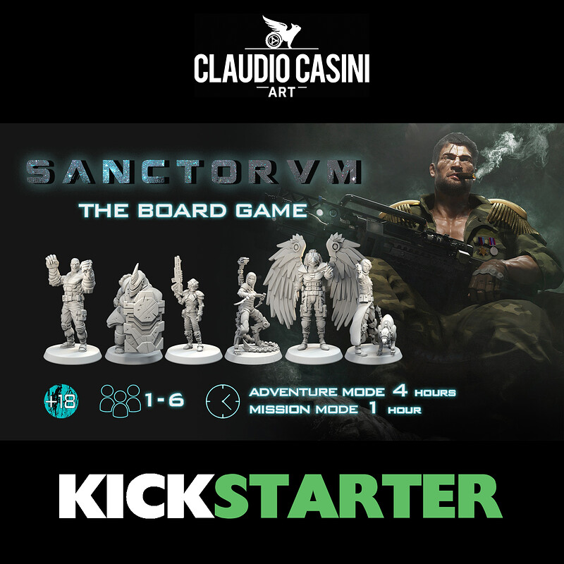 SANCTORVM Board Game - Party Miniatures