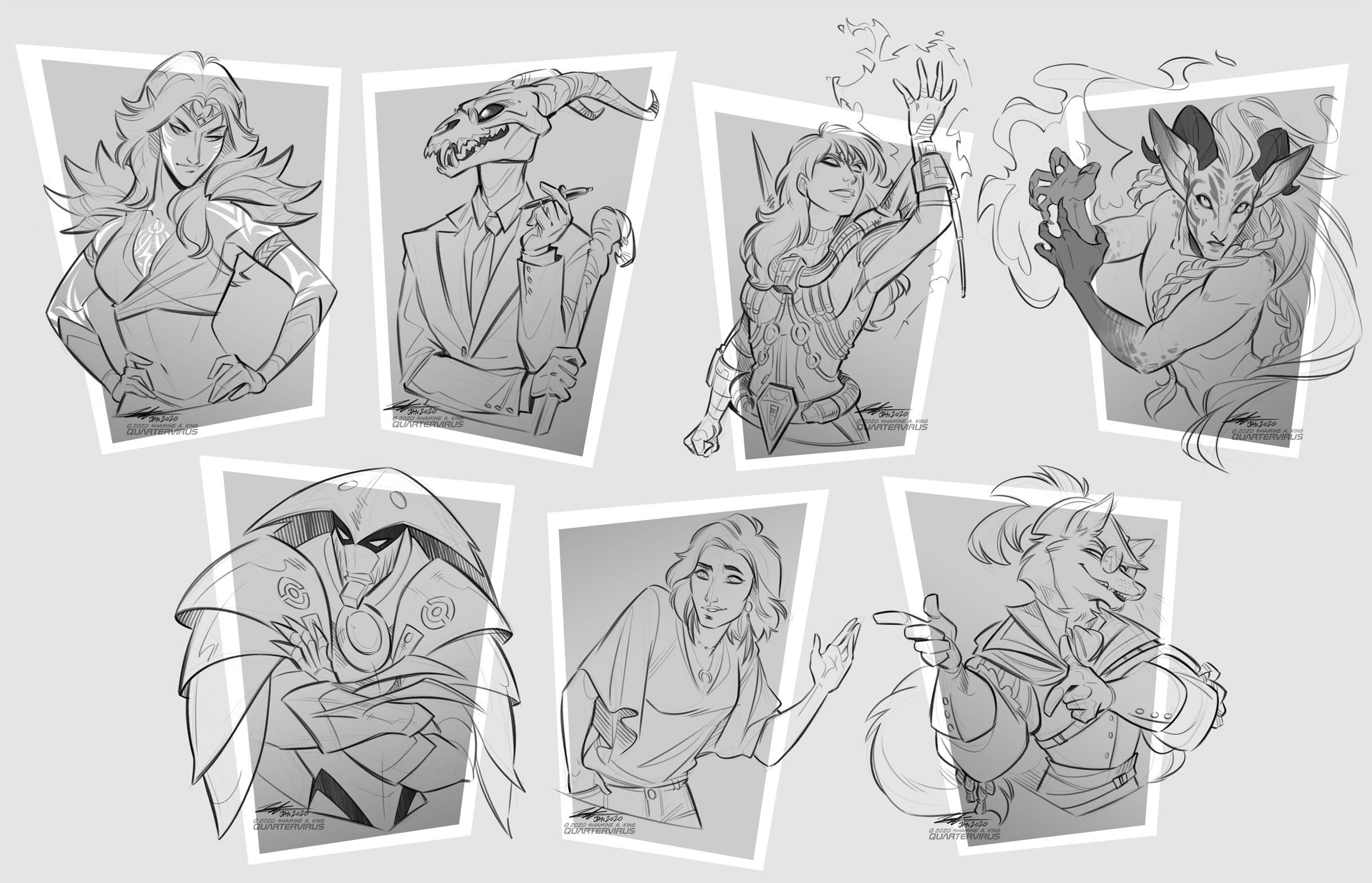 Bushfire Charity Sketches - Busts