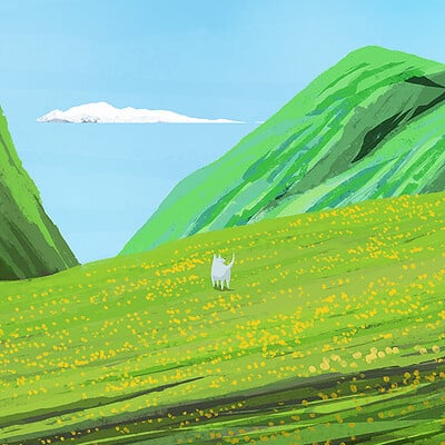 Dog on a Hill.