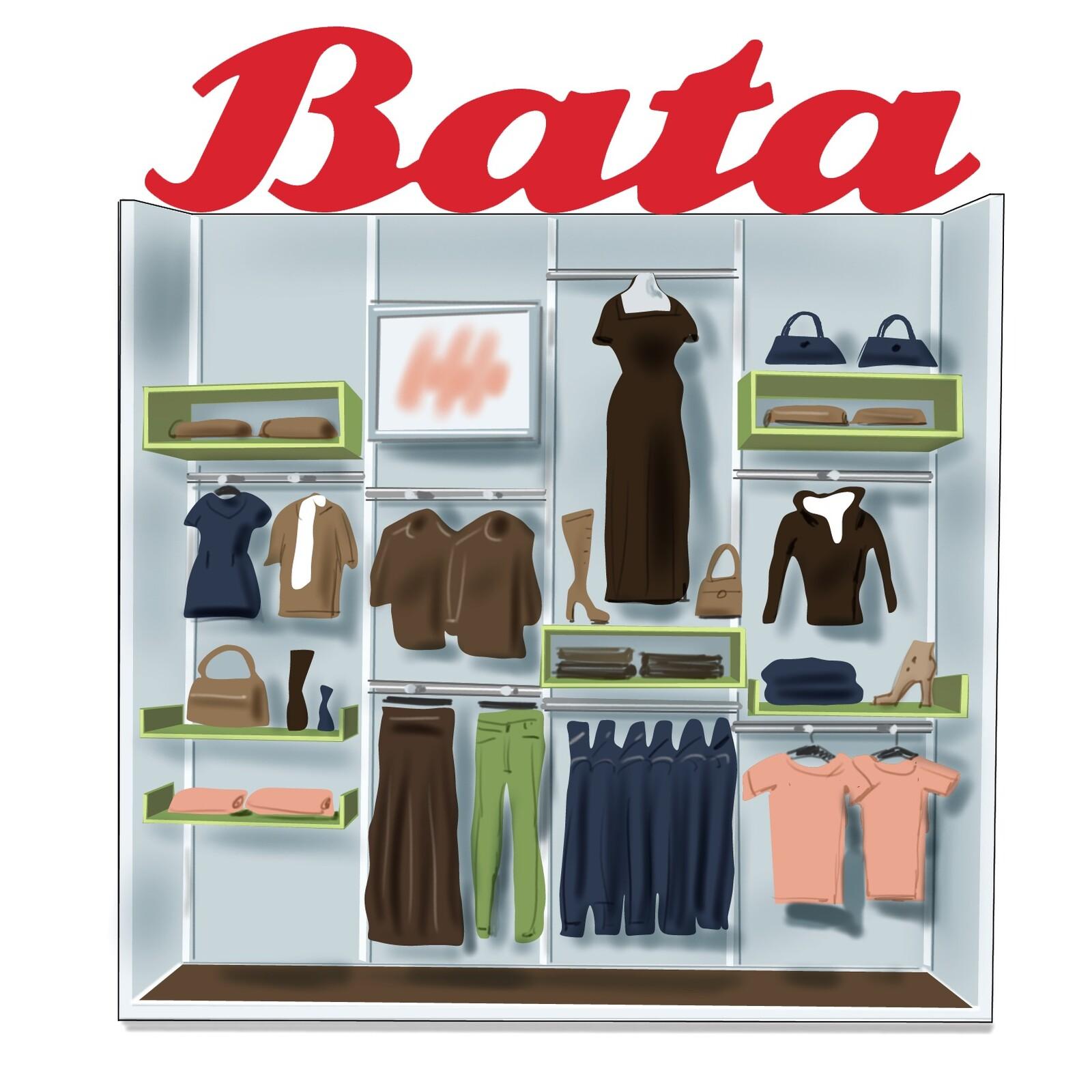 Bata wall displays.