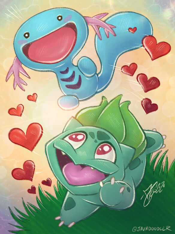 """""""Wooper and Bulbasar Bros"""" (Characters from Pokemon)"""
