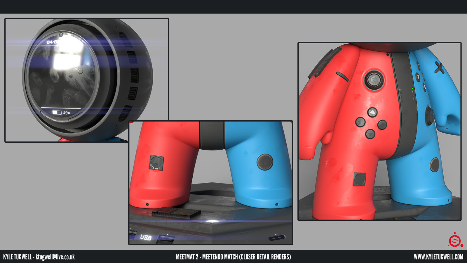 These closer renders allow you to see the details on the buttons, bumpers, screen etc. which have been incorporated to further promote the realistic elements of this entry.