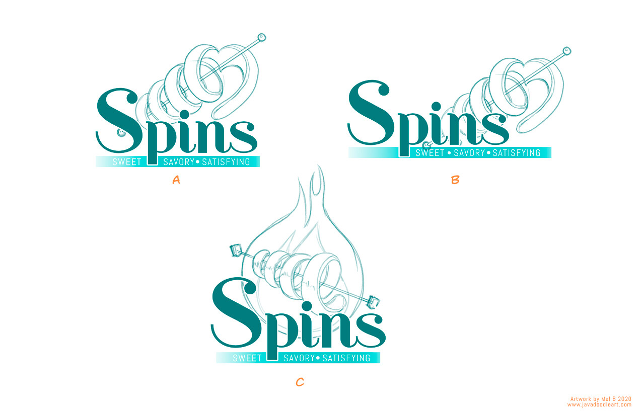 Spins: Sweet and Savory logo process 002