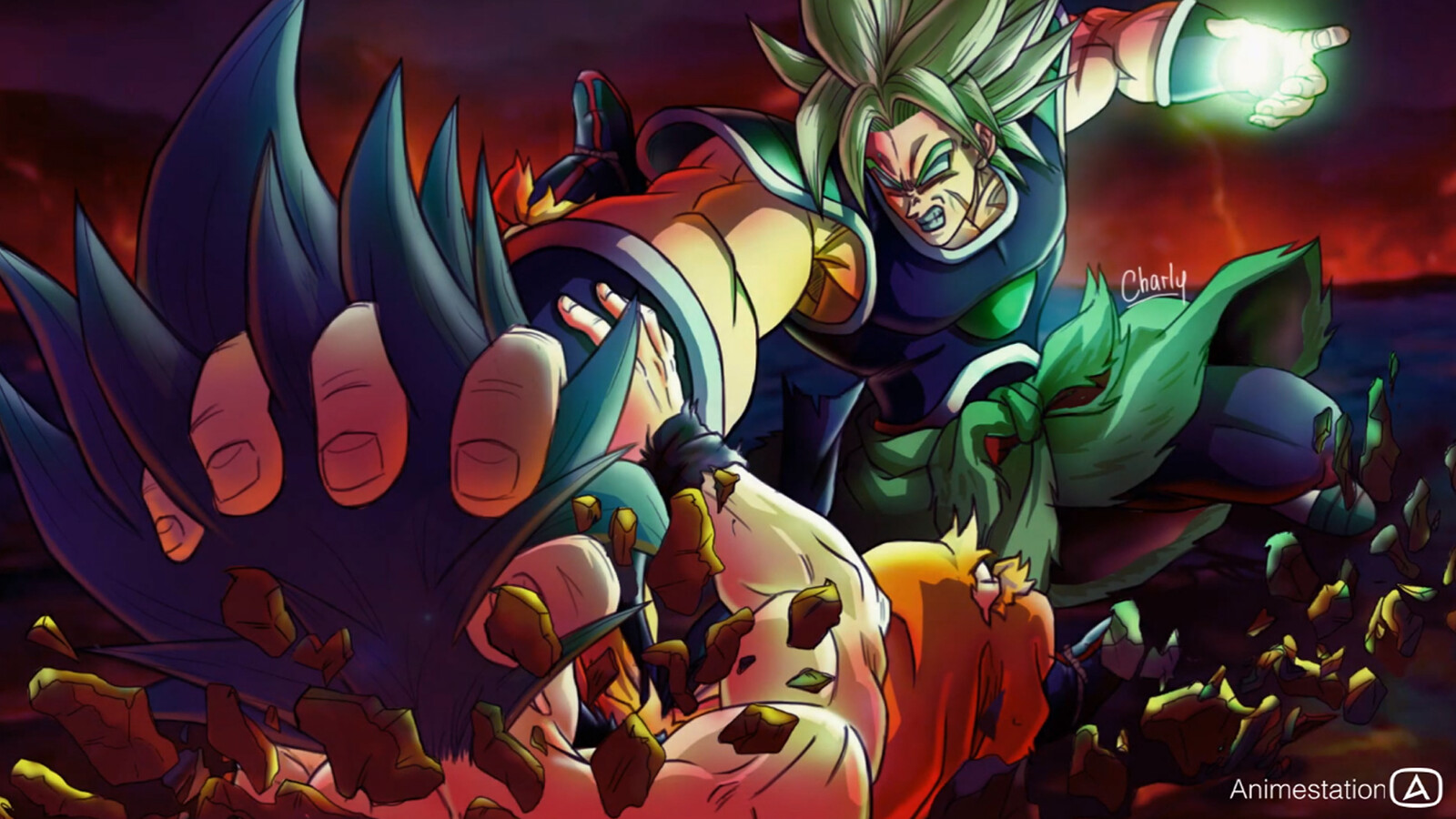 Artstation Goku Vs Broly Dragon Ball Super Broly Movie