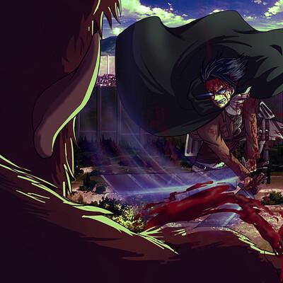 Charly animestation levi vs bestia