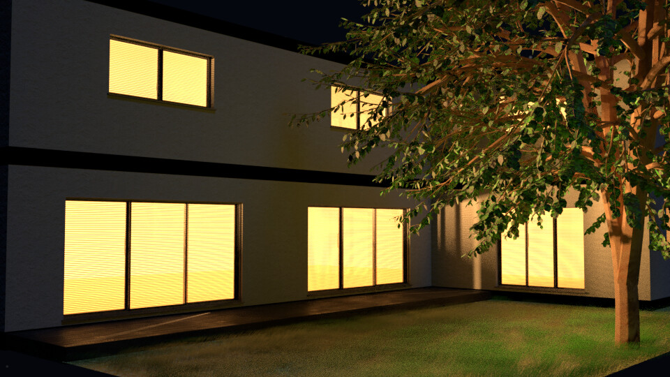 House Exterior at Night - 1