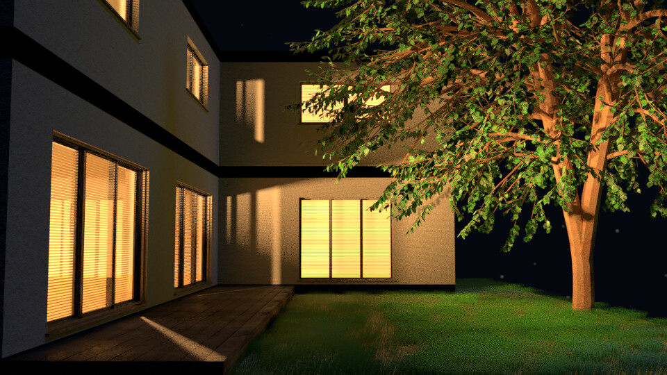 House Exterior at Night - 4