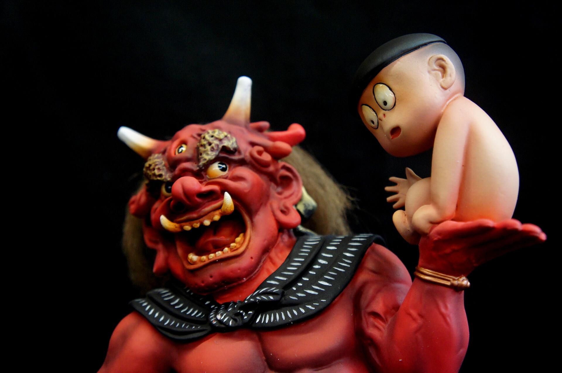 Hell Of GeGeGe No Kitaro Art Statue 鬼太郎 外伝 地獄
