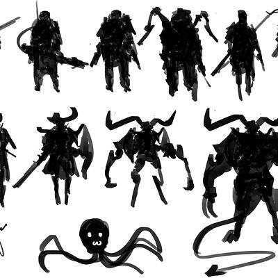 Benedick bana speedpaint silhouette designs