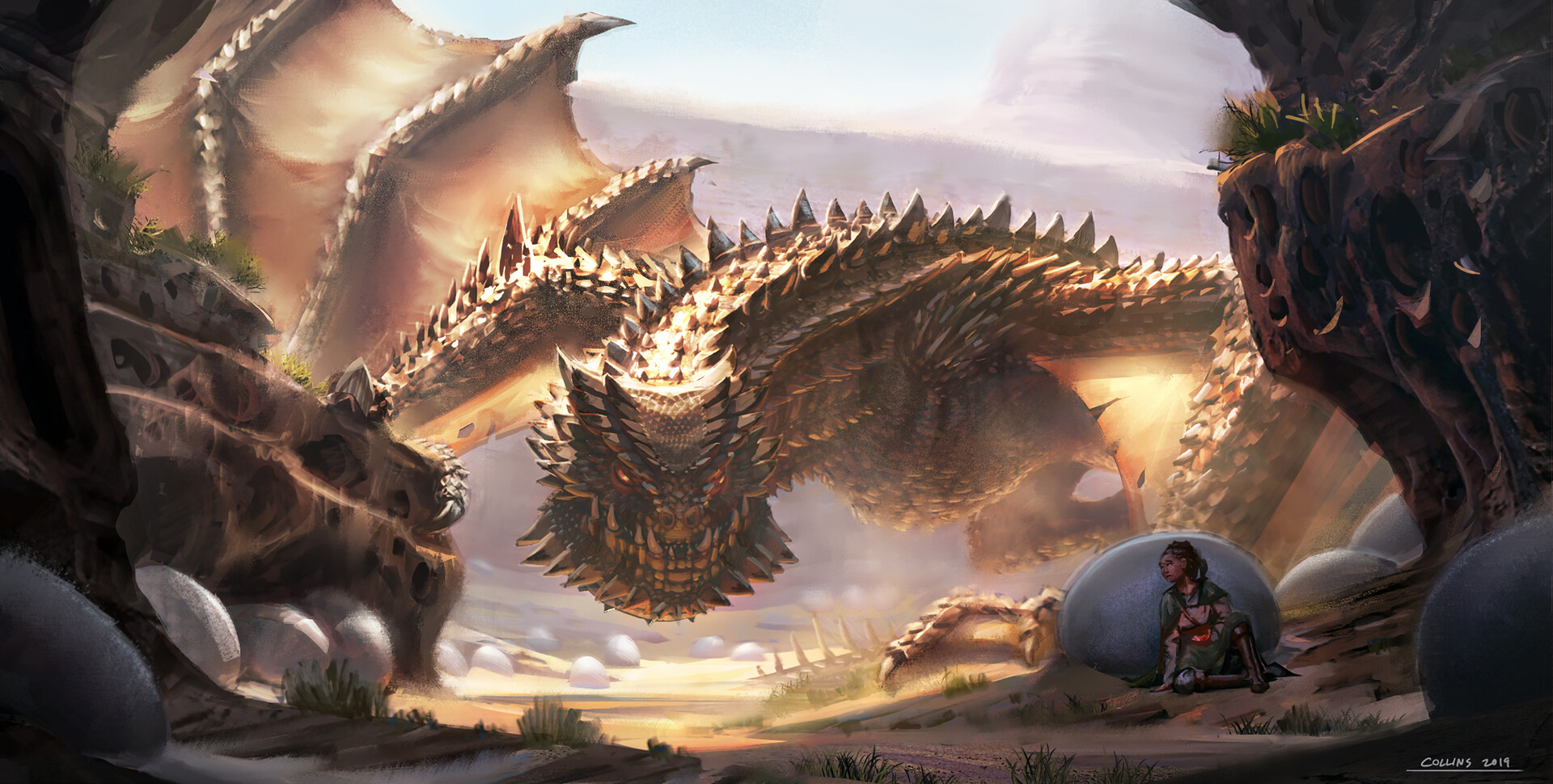The Lair Of The Horned Desert Dragon By Andrew Collins Imaginarydragons
