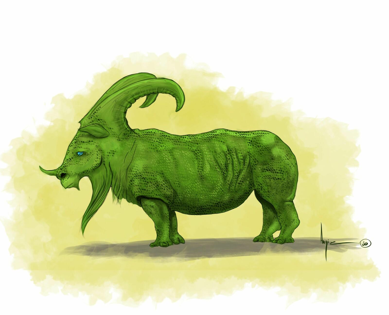 Creatuanary 2020 : Day 5 Rhino Goat