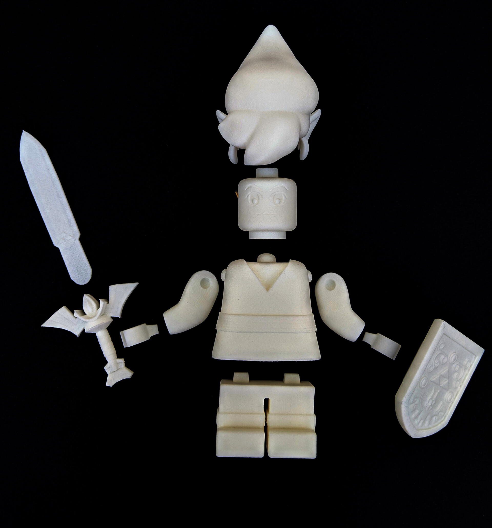 Raw print parts