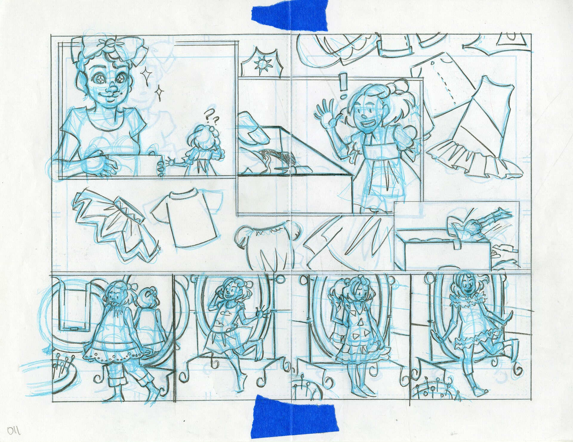 Roughs- Double Page Spread 11&12
