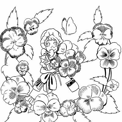 Becca hillburn day 1 pansies
