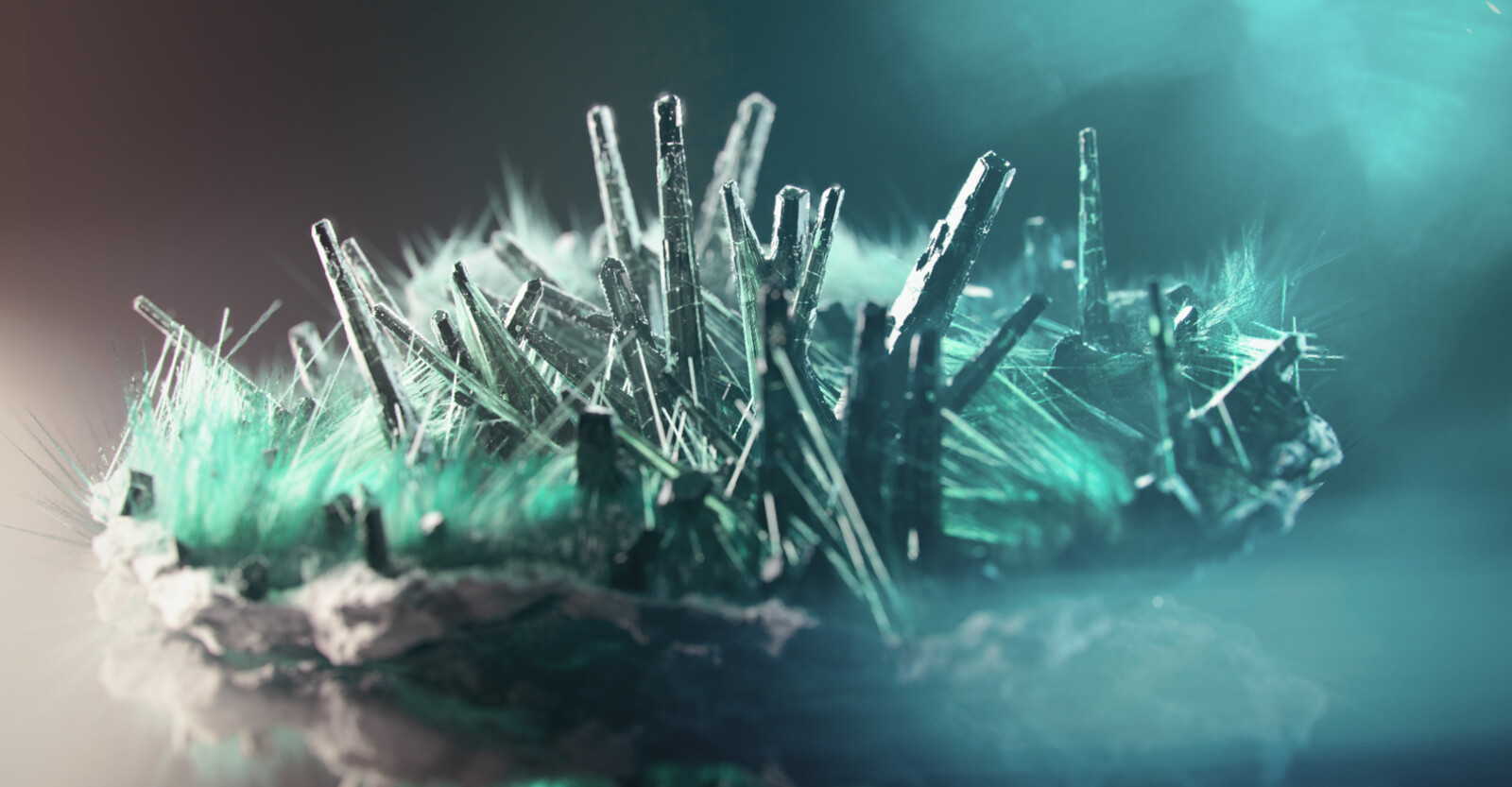 Fully Procedural mineral : Fibrous Malachite - Render B