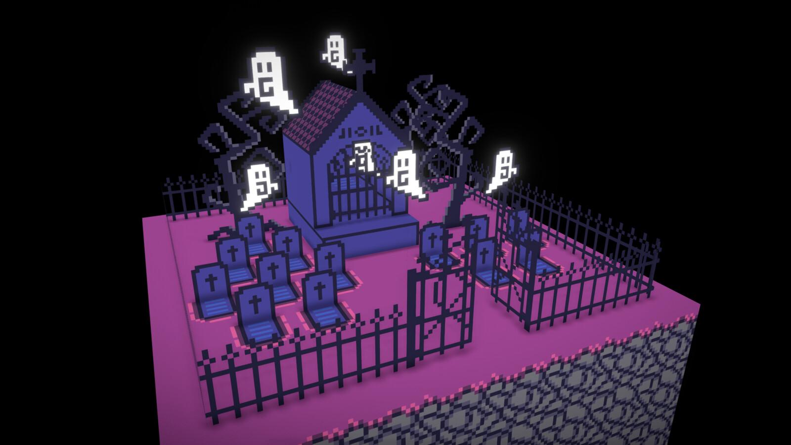 Graveyard (Diorama 3D)