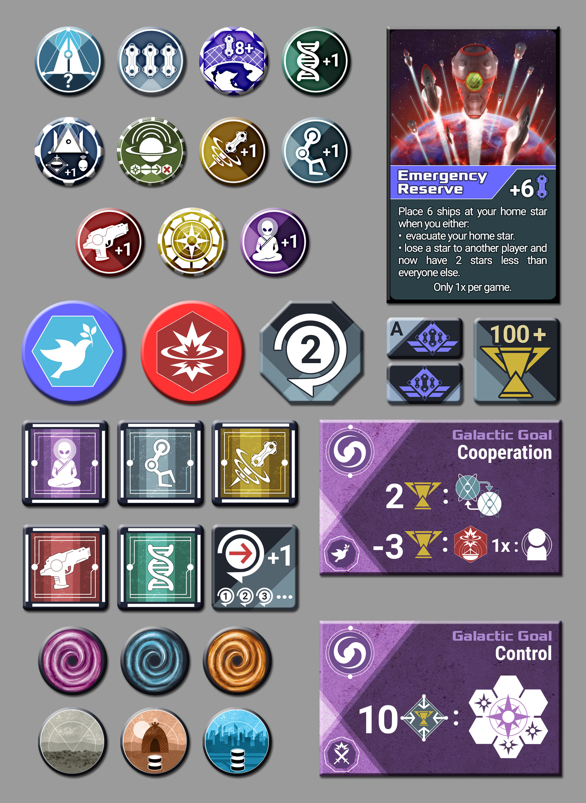 Tokens layouts and icons