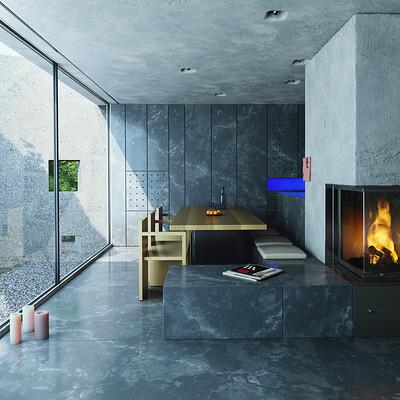 Moritz gersmann concrete livingroom