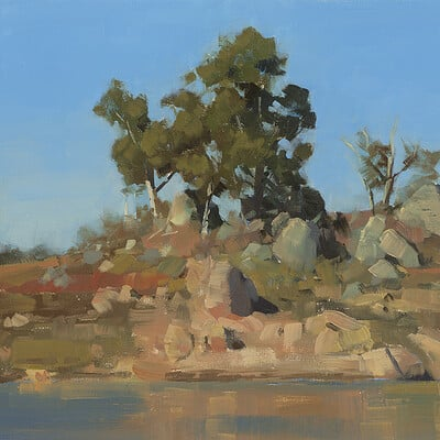 Plein Air Landscape Painting in Oils