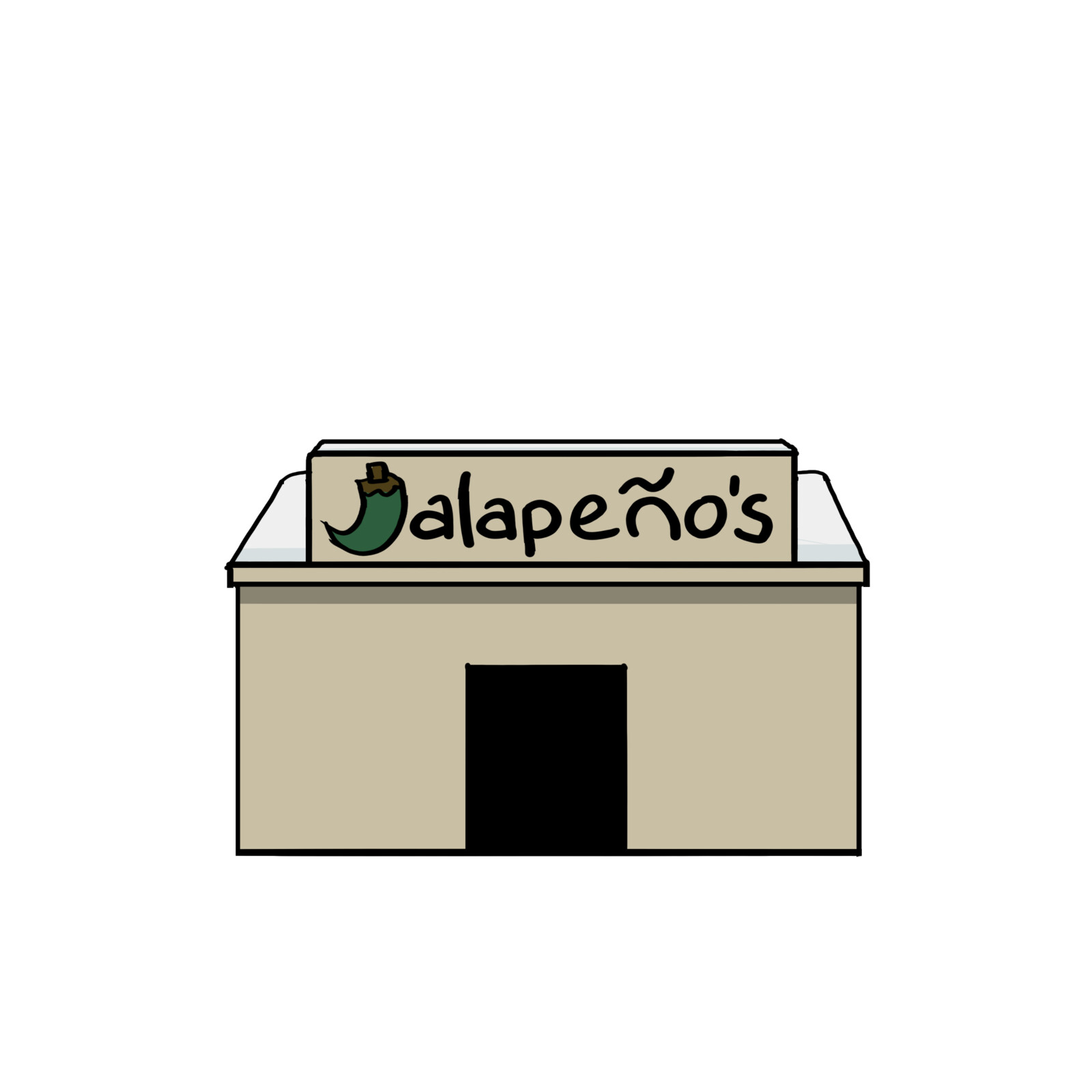 "Background sprite - the Diner ""Jalapeno's"""