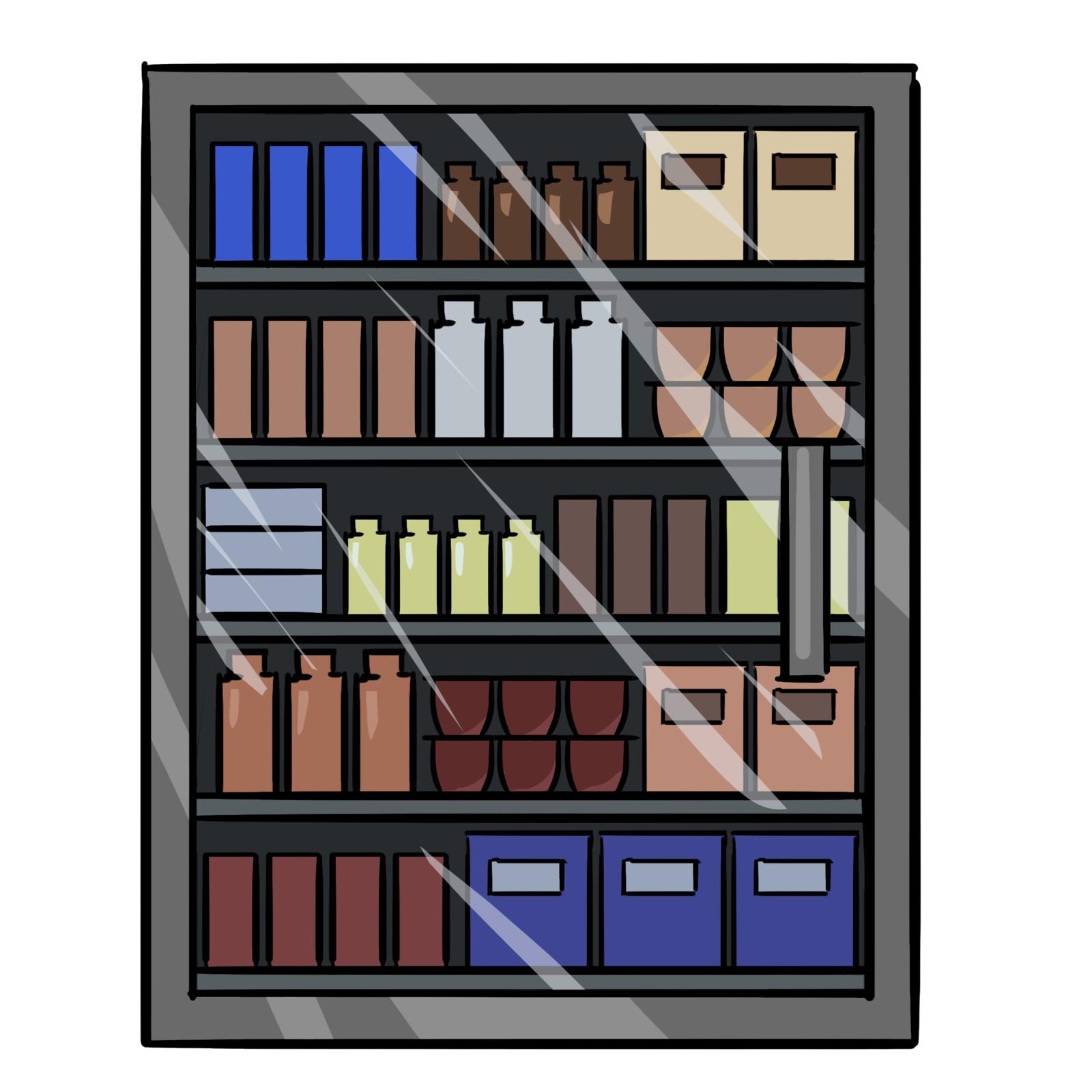 Background sprite - a store shelf