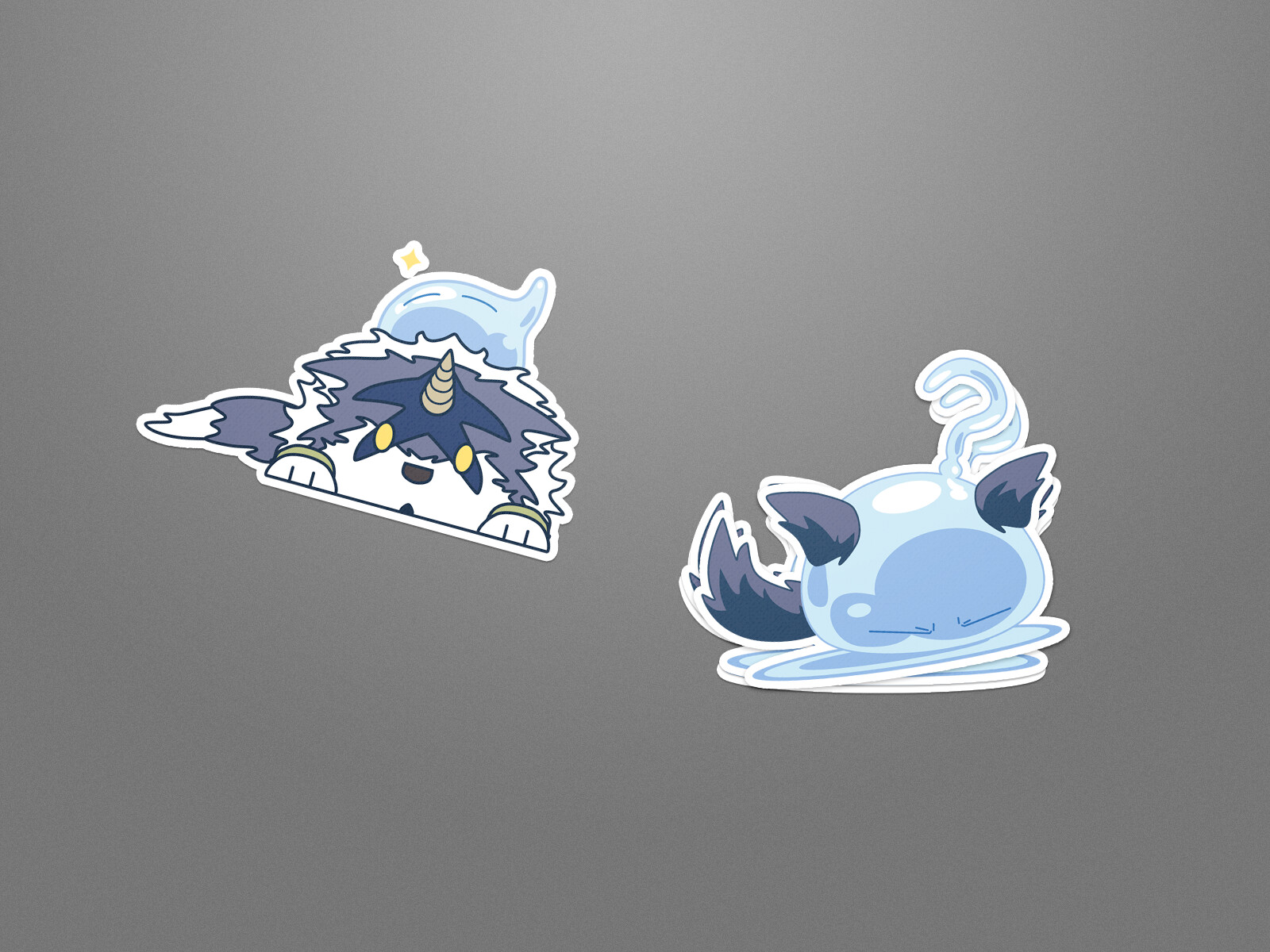 Fan Inspired Little Blue Slime Stickers