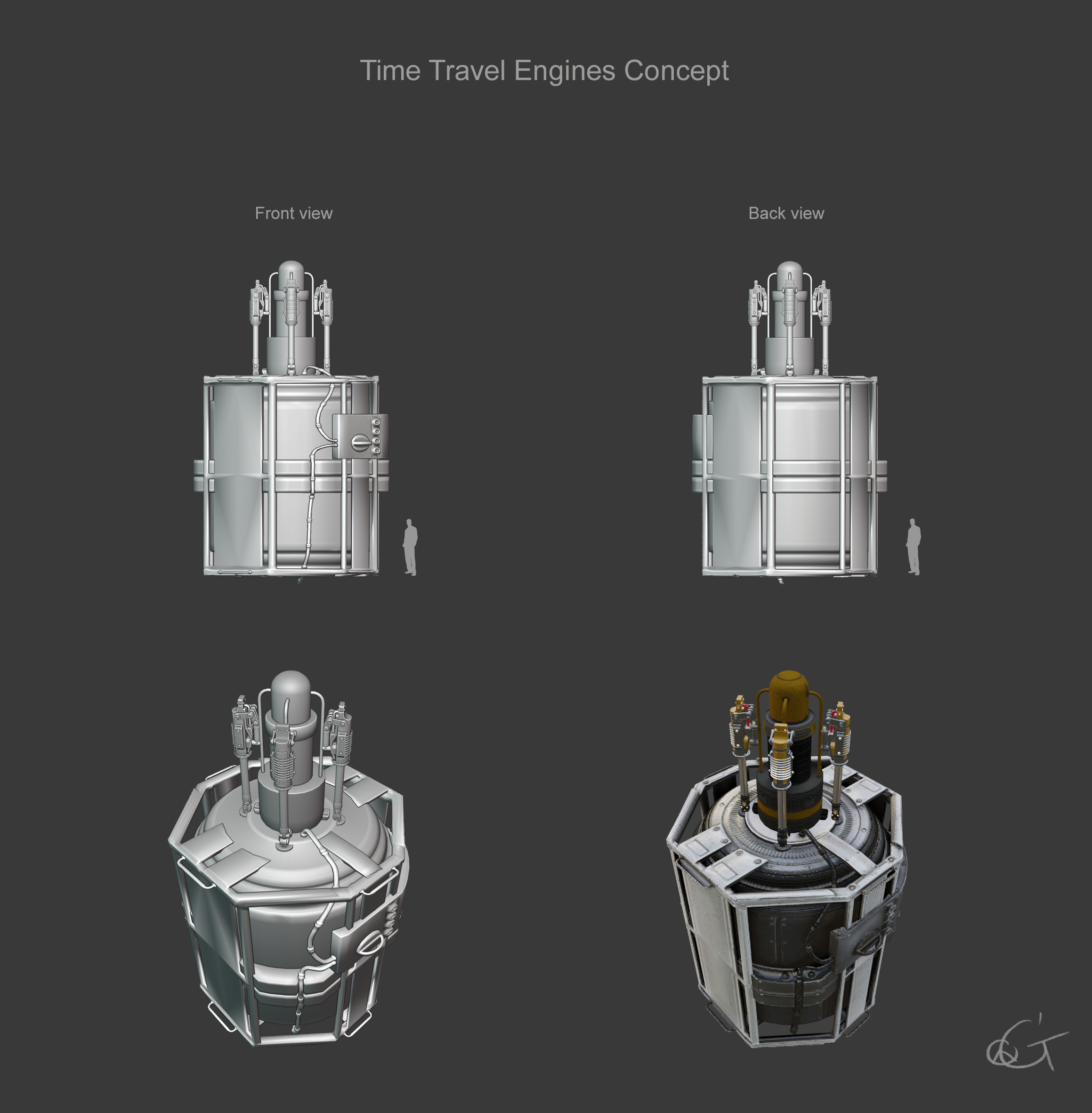 Time Travel Engines concept