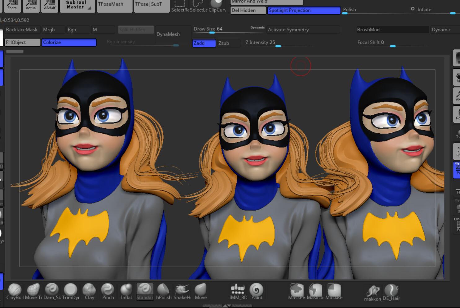 Batgirl ZBrush screenshot