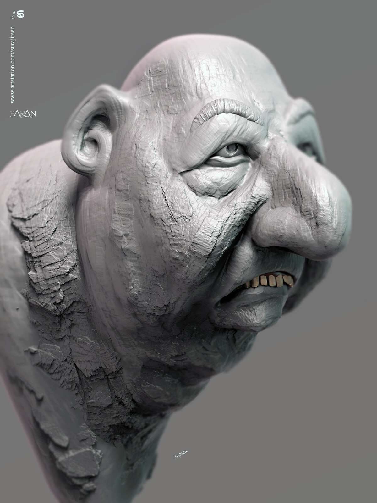 #doodle My free time quick Digital Sculpting study.. Played with brushes. Paran