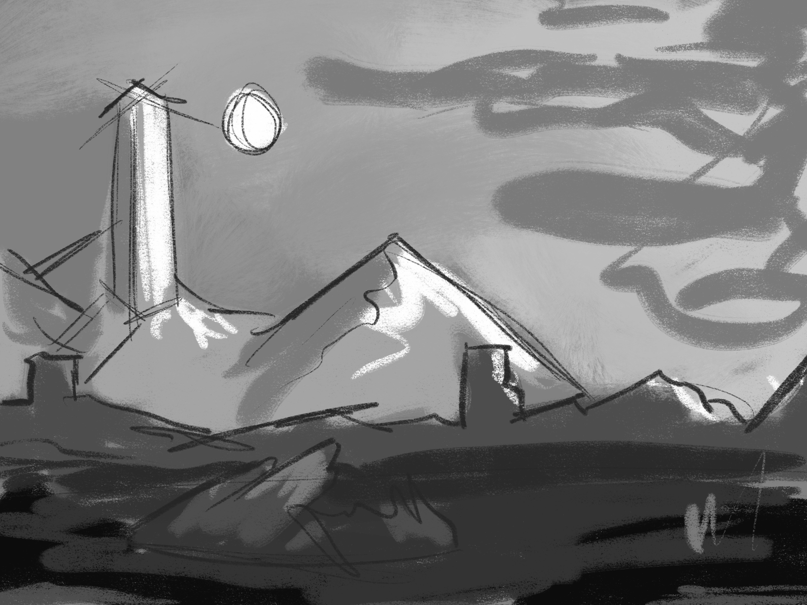 Quick sketch with value study