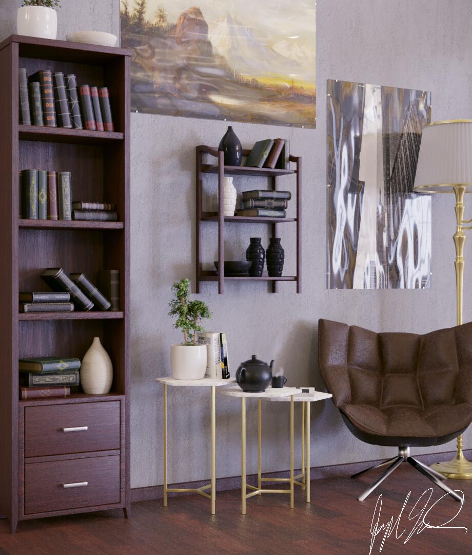 Interior Rendition 1: Side View