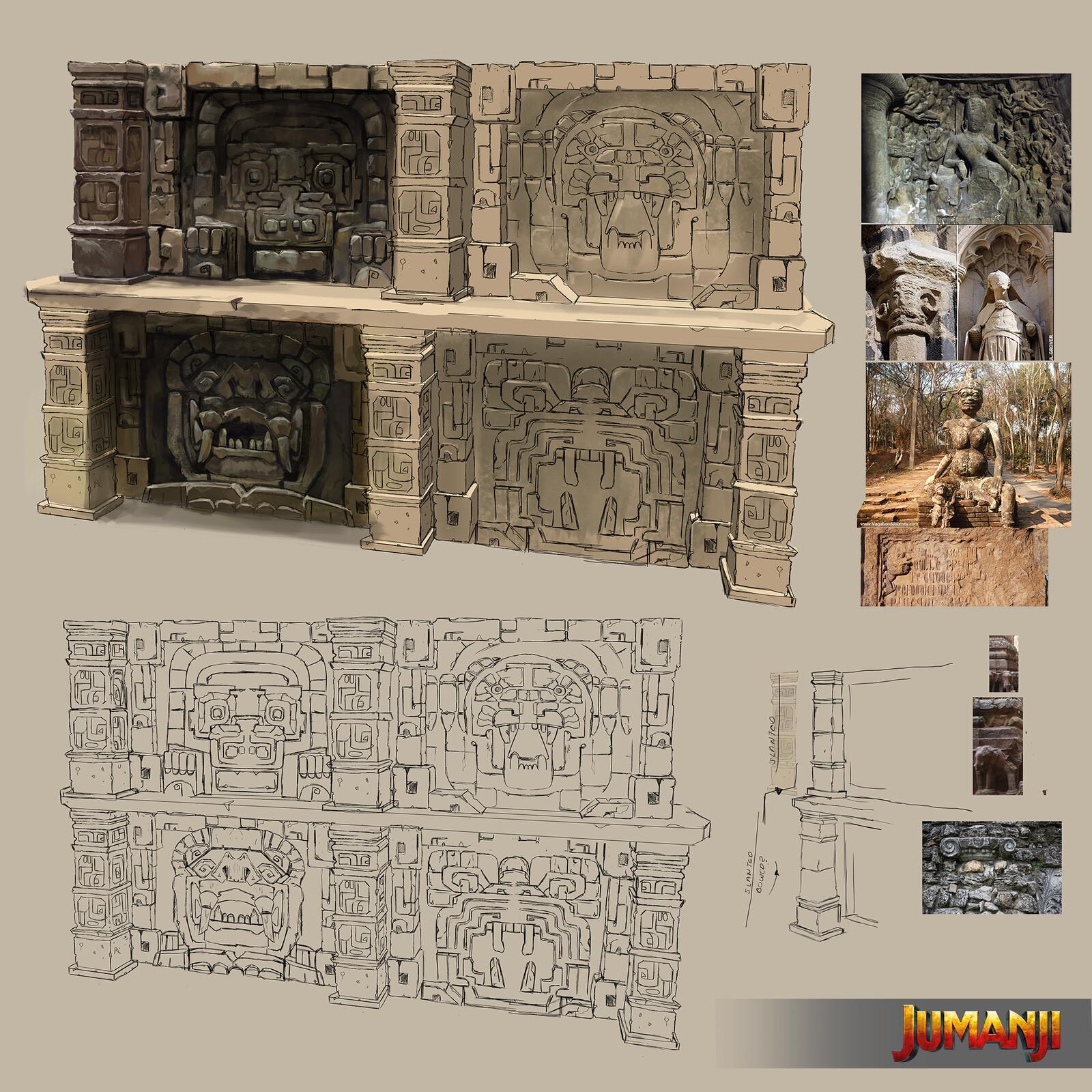 Jumanji design work