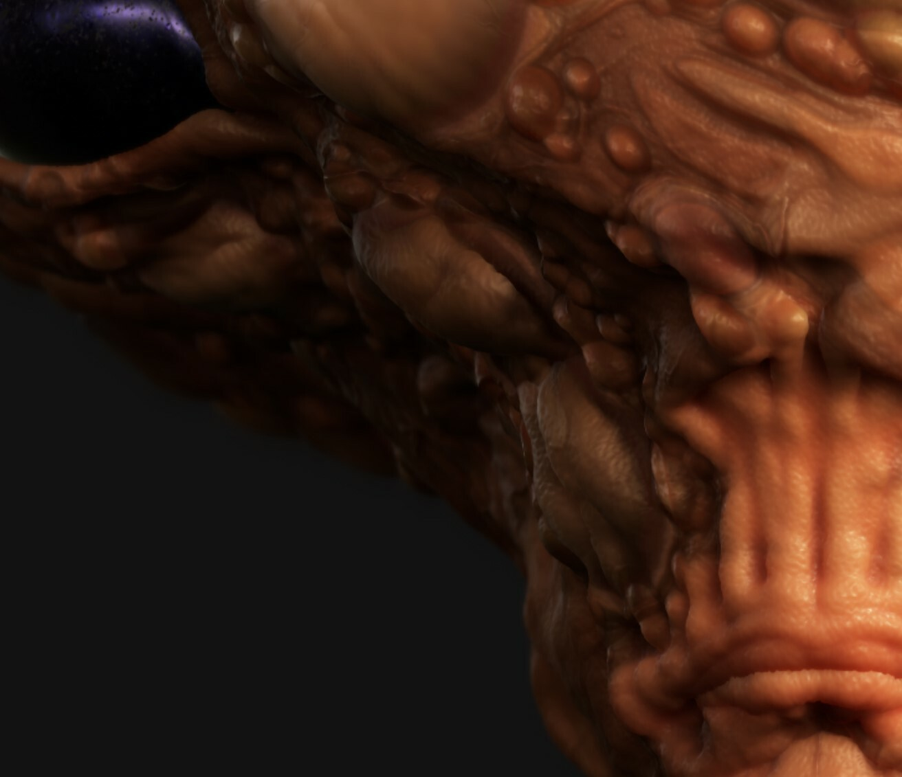 Substance Painter preview (fake realtime SSS)