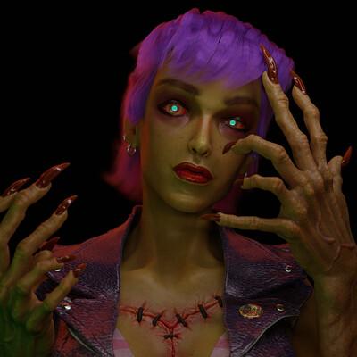 Daniel f r gordillo aurora zombie render artstat01