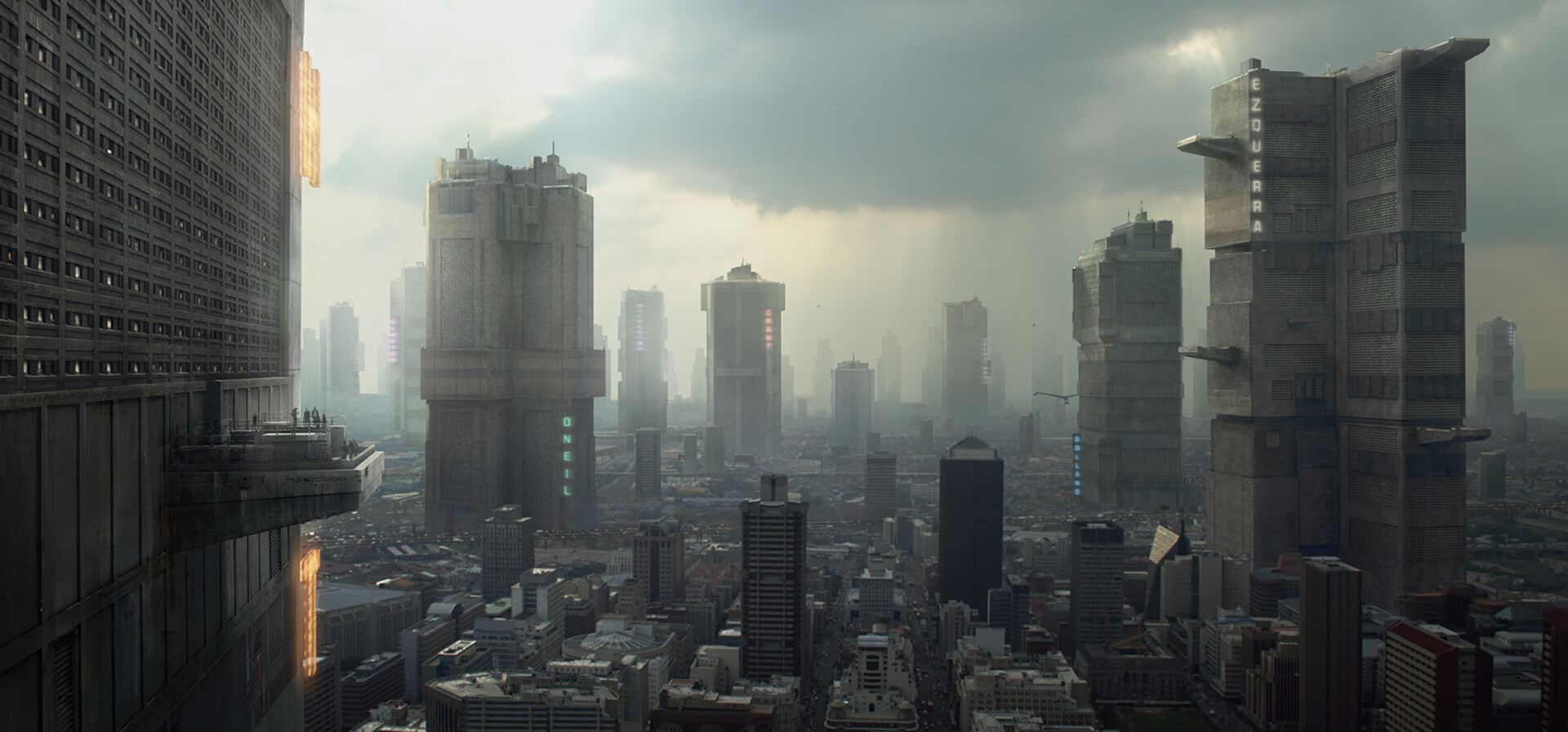 Dredd ( Alex Garland ) Mega-city  MP  Matte Painting