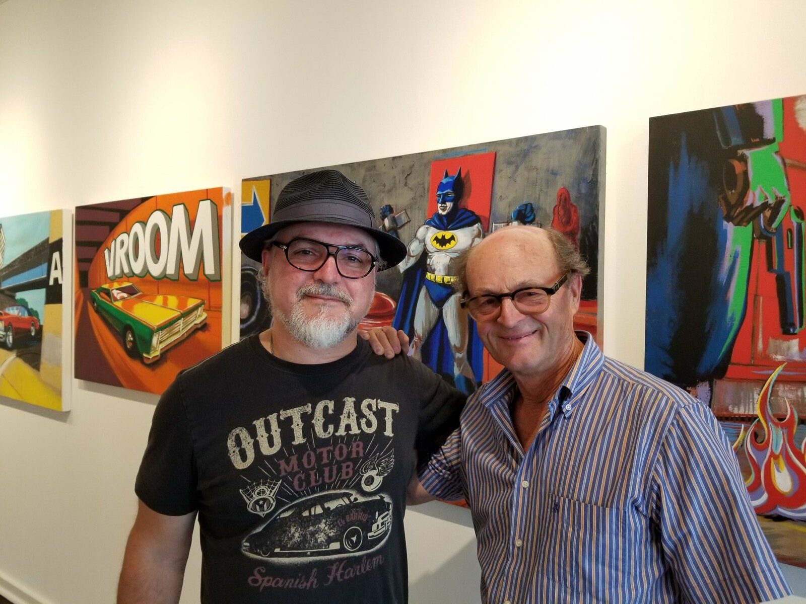 Vince Mancuso and Odon Wagner at the exhibit