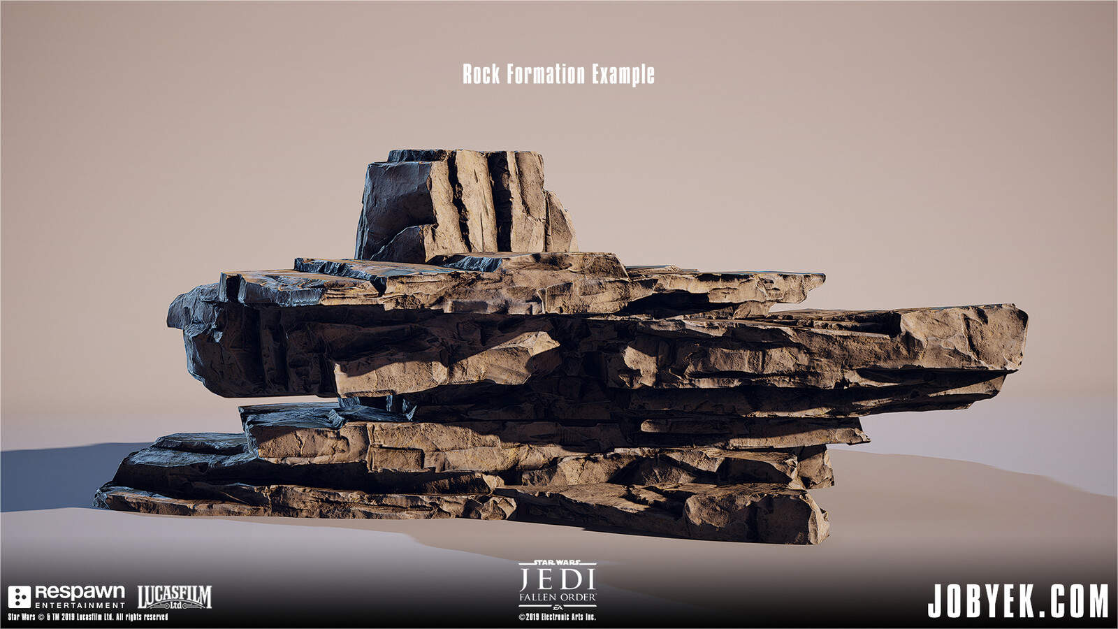 Rock Formation example with the rock assets above