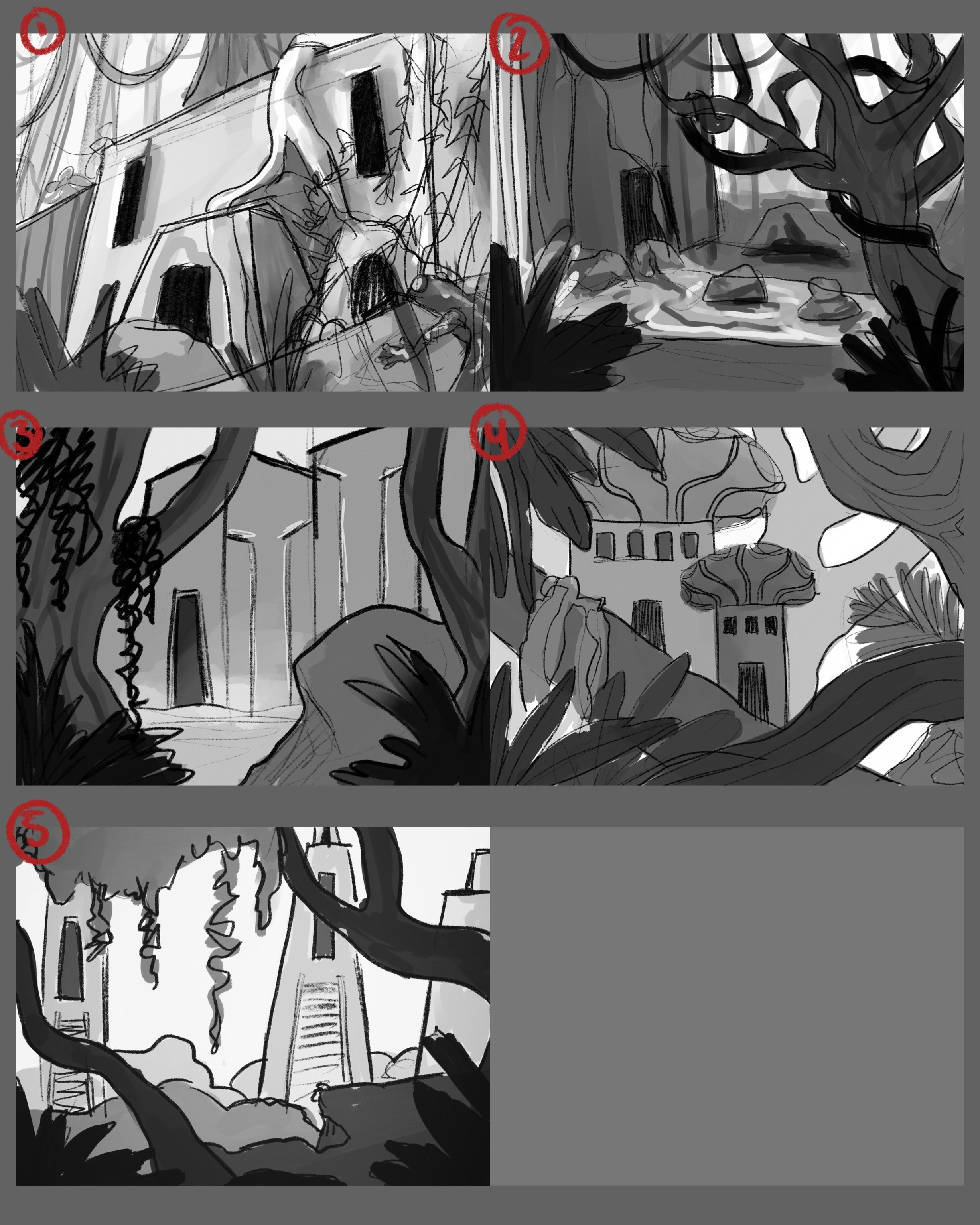 Tight sketches of the top 5 thumbnails