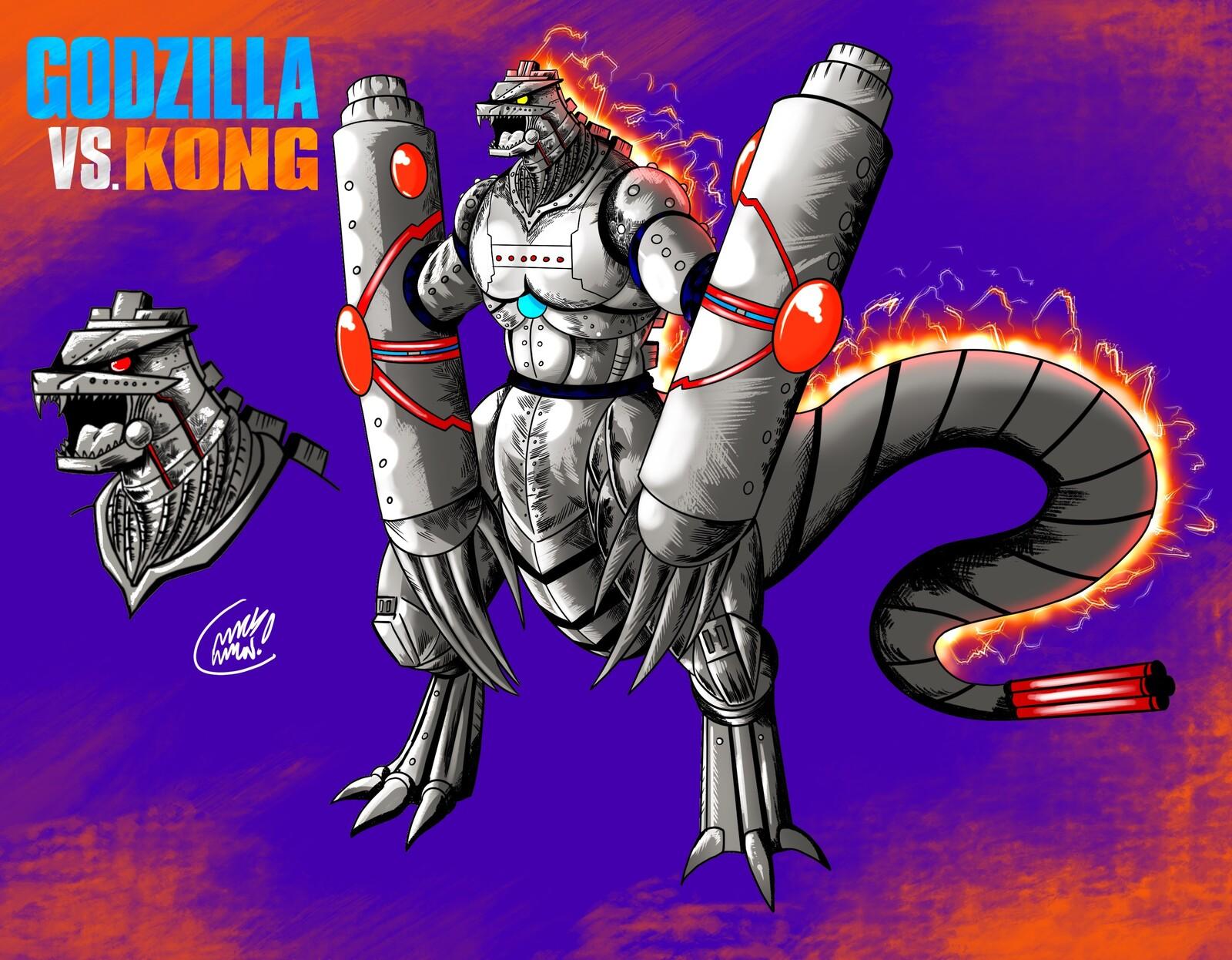 Artstation Godzilla Vs Kong Mecha Godzilla Christian Mack
