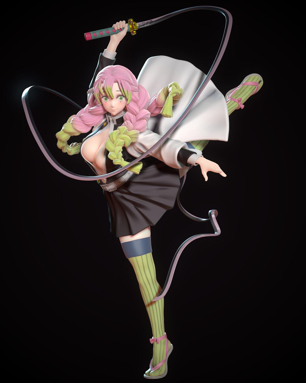 Chenlin Tsai Kanroji Mitsuri Fanart She's also posable at neck, shoulders and legs. chenlin tsai kanroji mitsuri fanart