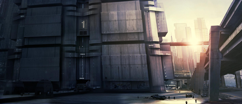 Mega-Block concept Art Direction Dredd ( Alex Garland )