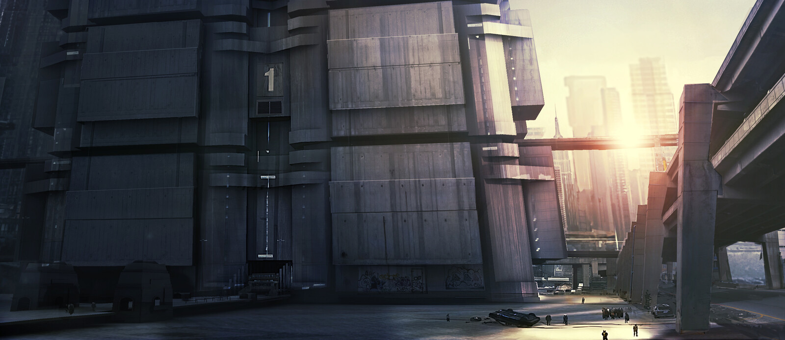 Mega-Block concept Art Direction Dredd ( Alex Garland )