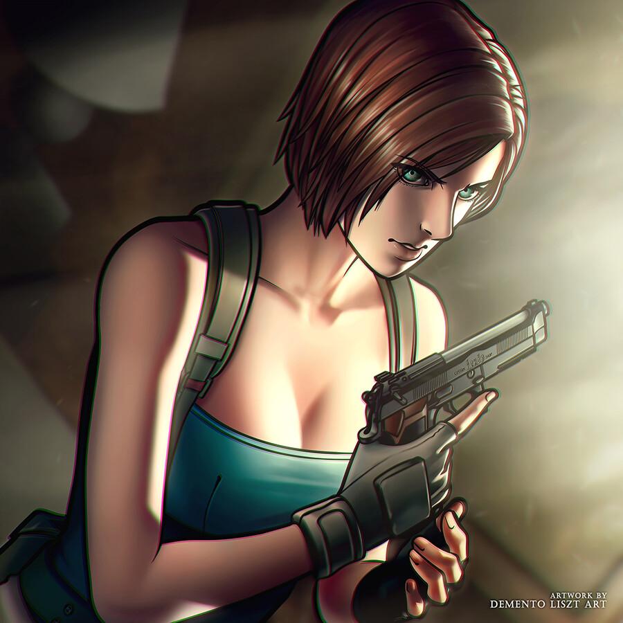 Artstation Resident Evil 3 20th Anniversary Tribute Jill